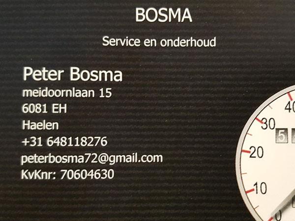 Bosma Onderhoud en Service